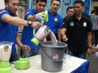 Berbagai Jenis Barang Bukti Narkoba Dimusnahkan oleh Polres Jakarta Barat.