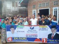 Dukungan Terus ''Mengalir'' Em Fajri Caleg Perindo Optimis Menang