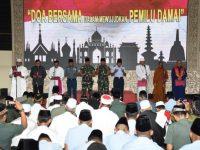Mewujudkan Pemilu Damai Ratusan Prajurit TNI Mengikuti Gelar Do,a Bersama