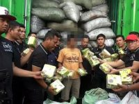 Kontainer Bermuatan Arang Bawa Sabu Diamankan Satres Narkoba Polres Jakarta Barat