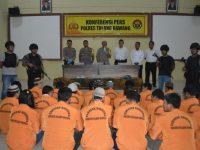 Satresnarkoba Polres Tulang Bawang Tangkap 32 Pelaku Penyalahgunaan Narkotika