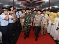 Ribuan Prajurit Sambut Panglima TNI Dalam Safari Ramadan di Kodam-lll/Siliwangi Jawa Barat