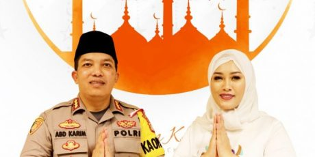 Kapolres dan Ketua Bhayangkari Restro Tangerang Kota Mengucapkan Selamat Idul Fitri 1440 Hijriyah.Mohon Maaf Lahir Batin