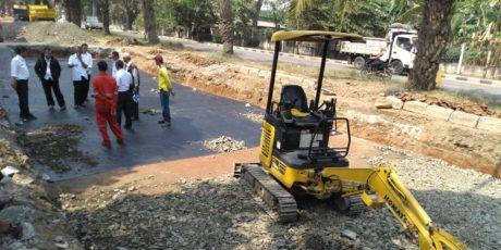Inovasi Dinas PUPR Kota Tangerang Gunakan Matrial Ban Bekas Sebagai Pondasi Jalan