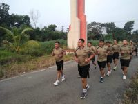 Letkol Inf Kohir,Pimpin Langsung Kegiatan Rutin Pembinaan Pisik Prajurit