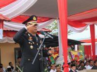 Kapolres Merangin Pimpin Upacara HUT Bayangkara Ke 73 Di Mapolsek Bangko