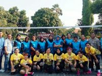 Menyambut Persiapan HUT RI ke 74 Tim Volly Polsek Jatiuwung Sebagai Juara Bertahan