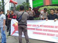 Diduga Lakukan Pencemaran Lingkungan APIP Jambi Datangi Kantor PT. Petrochina Di Jakarta
