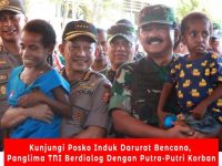 Panglima TNI Bersama Kapolri Terjun Tinjau Lokasi Longsor dan Banjir Bandang Sentani Papua