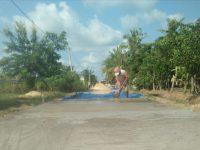 Bangunan Jalan Rabat Beton Desa Way Puji Dikerjakan Sesuai Aturan